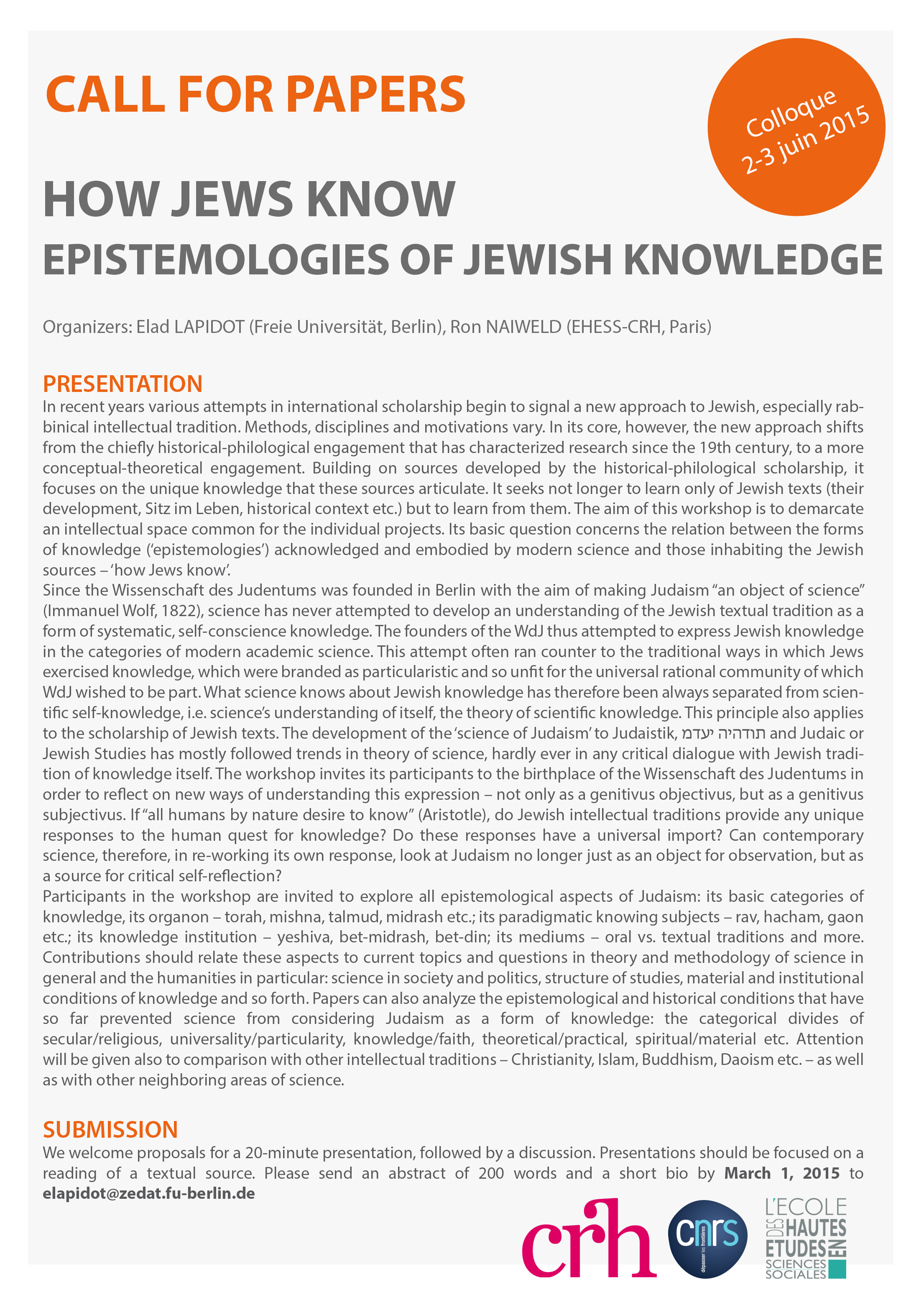 How Jews Know Epistemologies of Jewish Knowledge